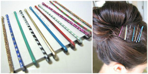 nail-polish-painted bobby pins