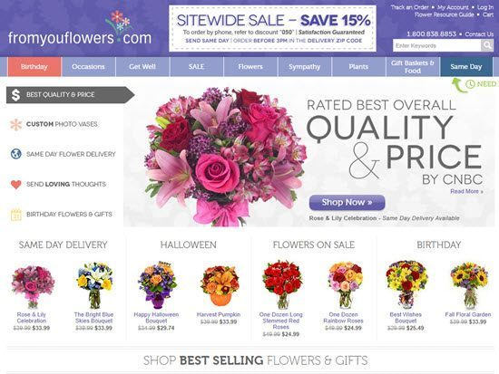 From You Flowers order flowers online